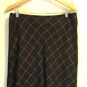 Bias cut knee-length skirt